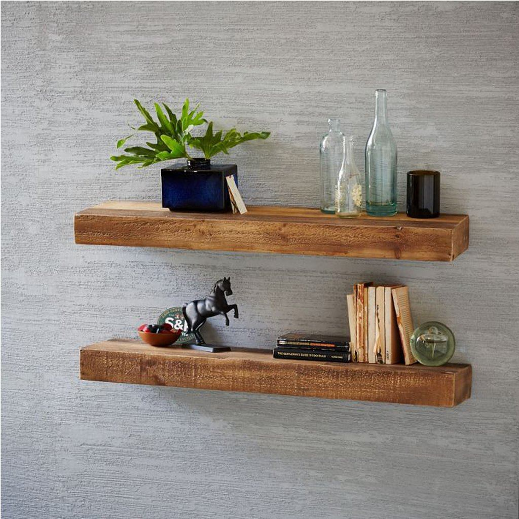 Fox Solid Wood Wall Rack Set Of Two With Distress Finish - Lakkadhaara