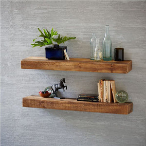 Fox Solid Wood Wall Rack Set Of Two With Distress Finish