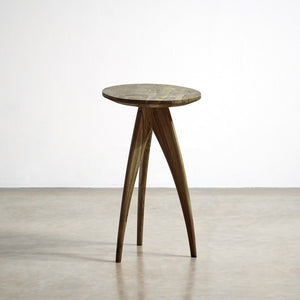 Loire Solid Wood End Table In Provincial Mahogany Finish