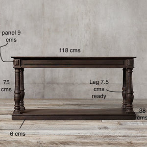 Sau Paulo Solid Wood Console Table In Walnut Finish