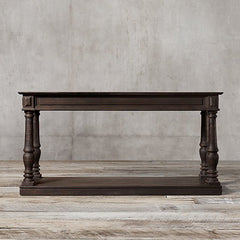 Sau Paulo Solid Wood Console Table In Walnut Finish - Lakkadhaara