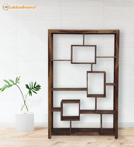 Lakkadhaara Solid Wood Bookshelf Or Multipurpose Display Unit