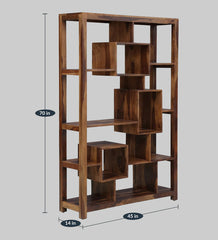 Lakkadhaara Solid Wood Bookshelf Or Multipurpose Display Unit - Lakkadhaara