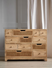 Rattan Twelve Chest Of Drawers