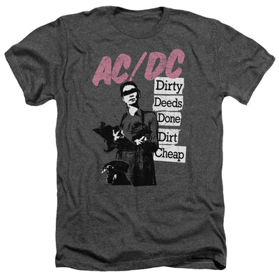 Acdc - Dirty Deeds Adult Heather T-Shirt