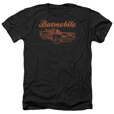 Batman - Batmobile Adult Heather T-Shirt