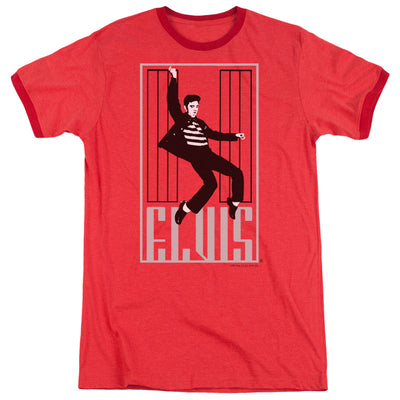 Elvis - One Jailhouse Adult Heather T-Shirt