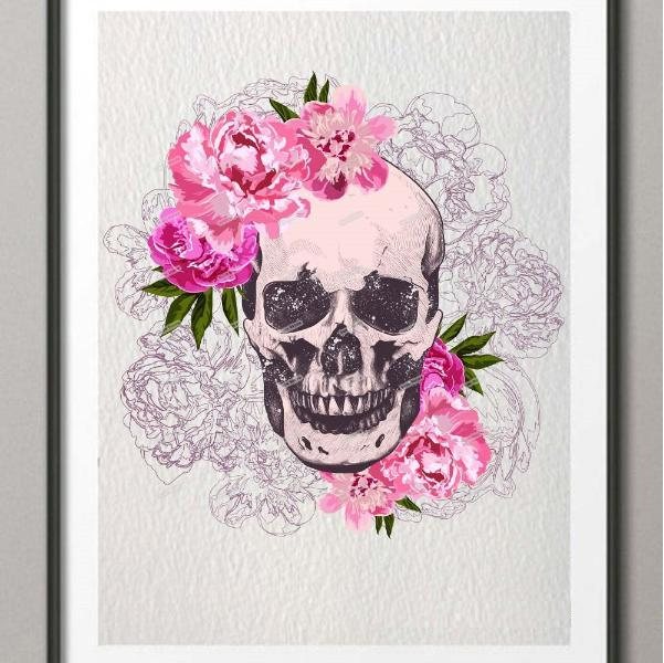 Floral Skull Picture