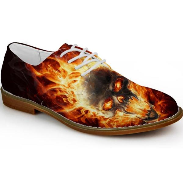 Burning Skull Shoes