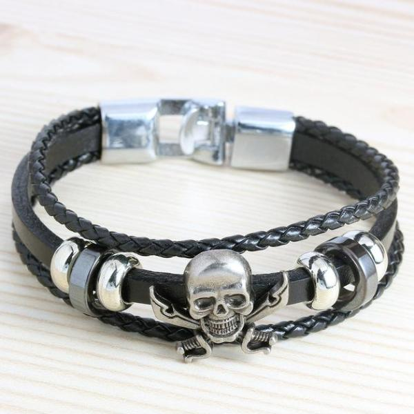 Retro Genuine Skull Bracelet