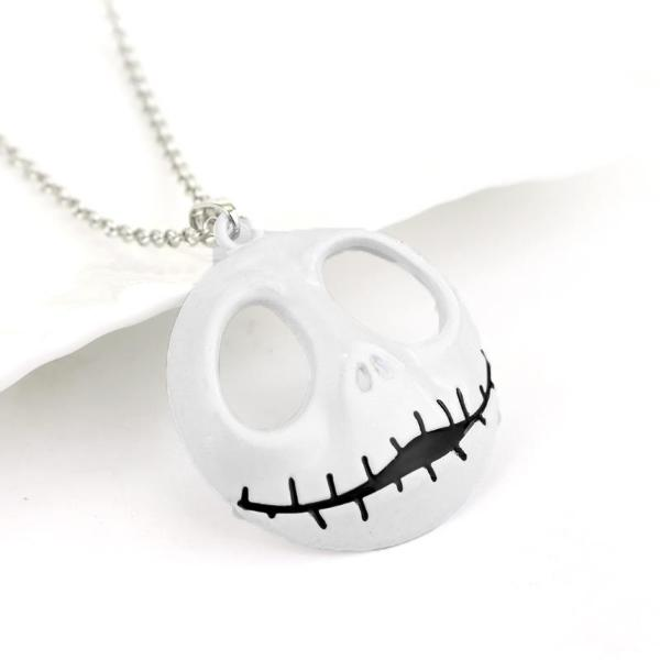 Pumpkin Skull Necklace