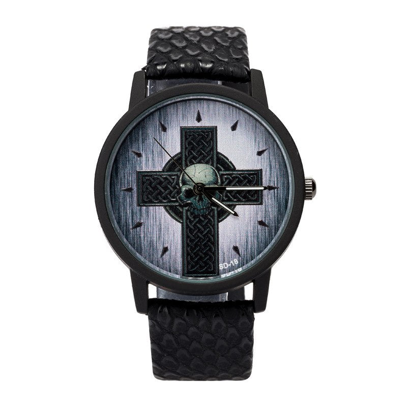 Snakeskin Cross Skull Watch