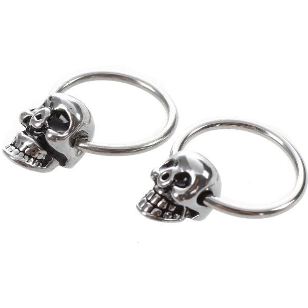 Moclosite Skull Earrings