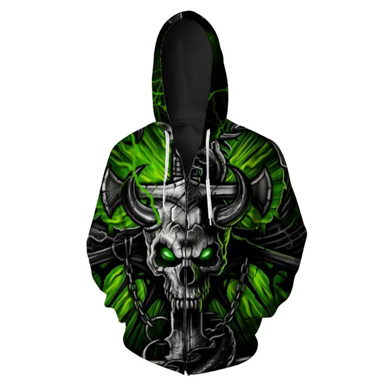 Devil's Sword Zip Up Hoodie