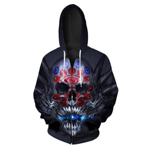 Swallowed Light Zip Up Hoodie