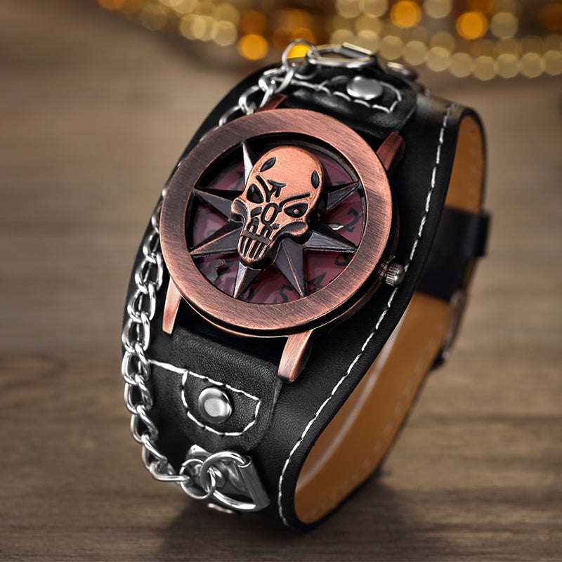 Wrist Pad Skull Watch