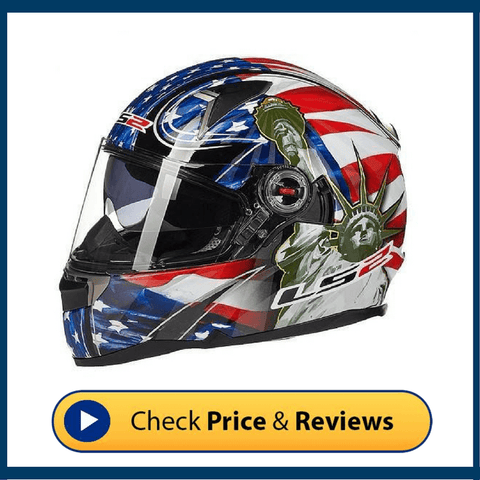 LS2 FF-396 glass fiber motorcycle helmet