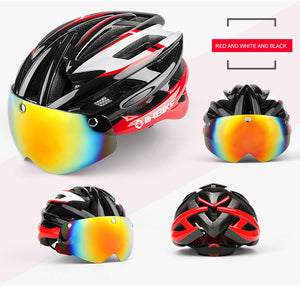 InBike Cycling Helmet with Glasses