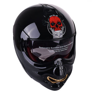 monster face motorcycle helmet