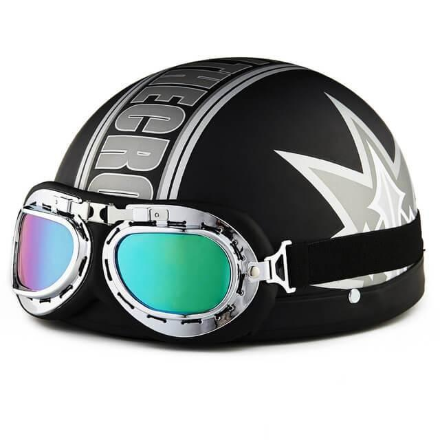 New Summer Vintage Open Face Motorcycle Helmet