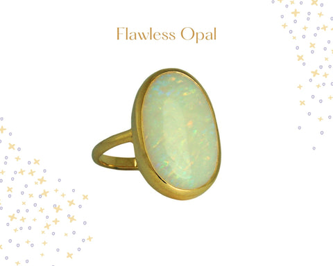 Flawless Gold Opal ring for Women jewellery in Mauritius