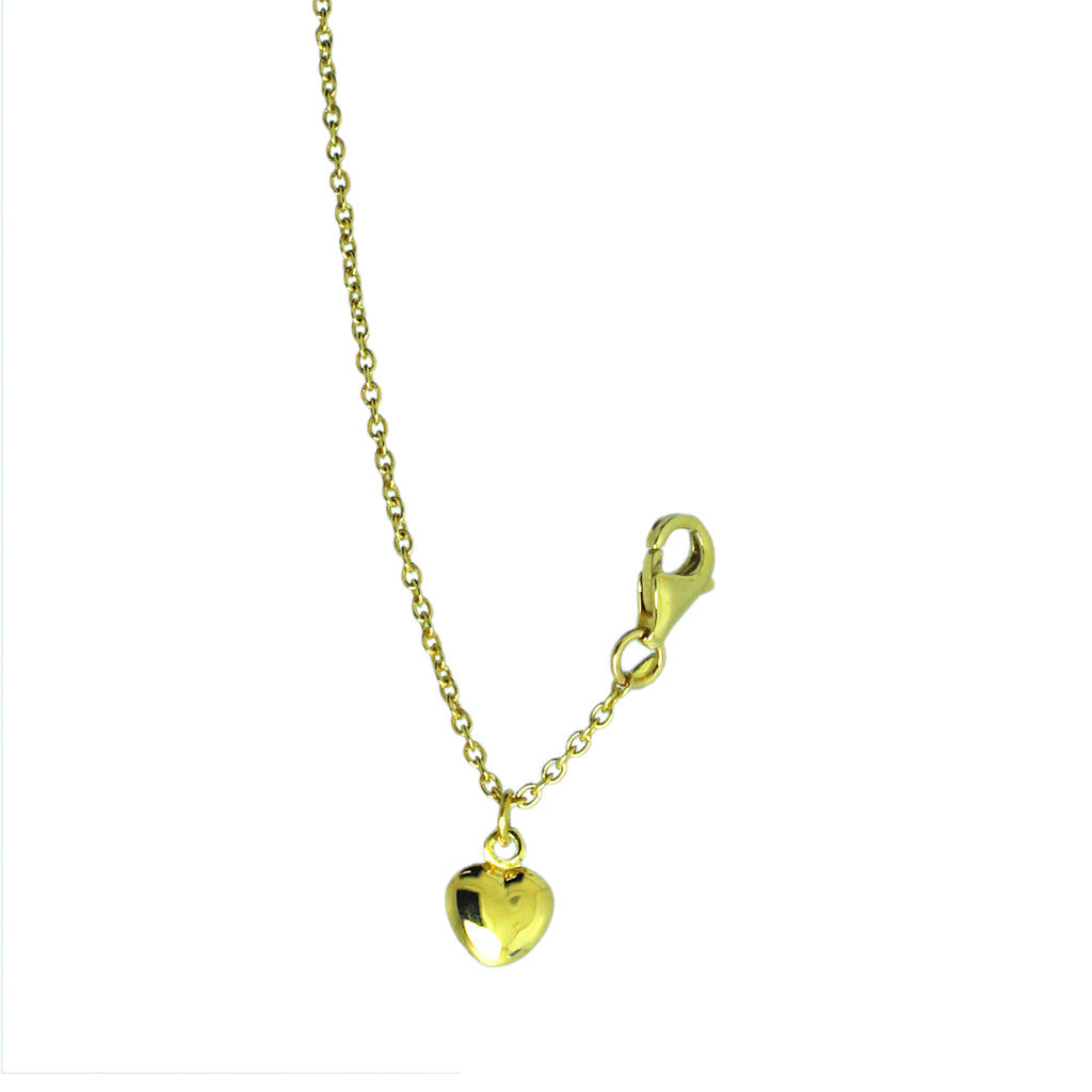 Hearted Gold Anklet Chain