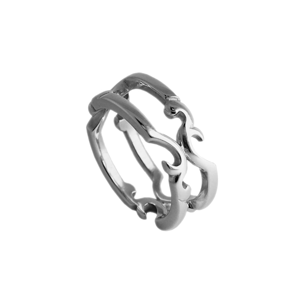 Arbo Double Silver Ring
