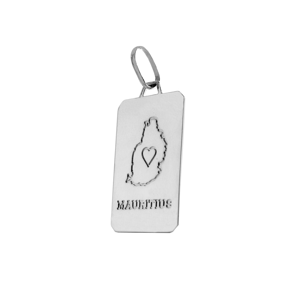 Mauritius in Sterling Silver Pendant