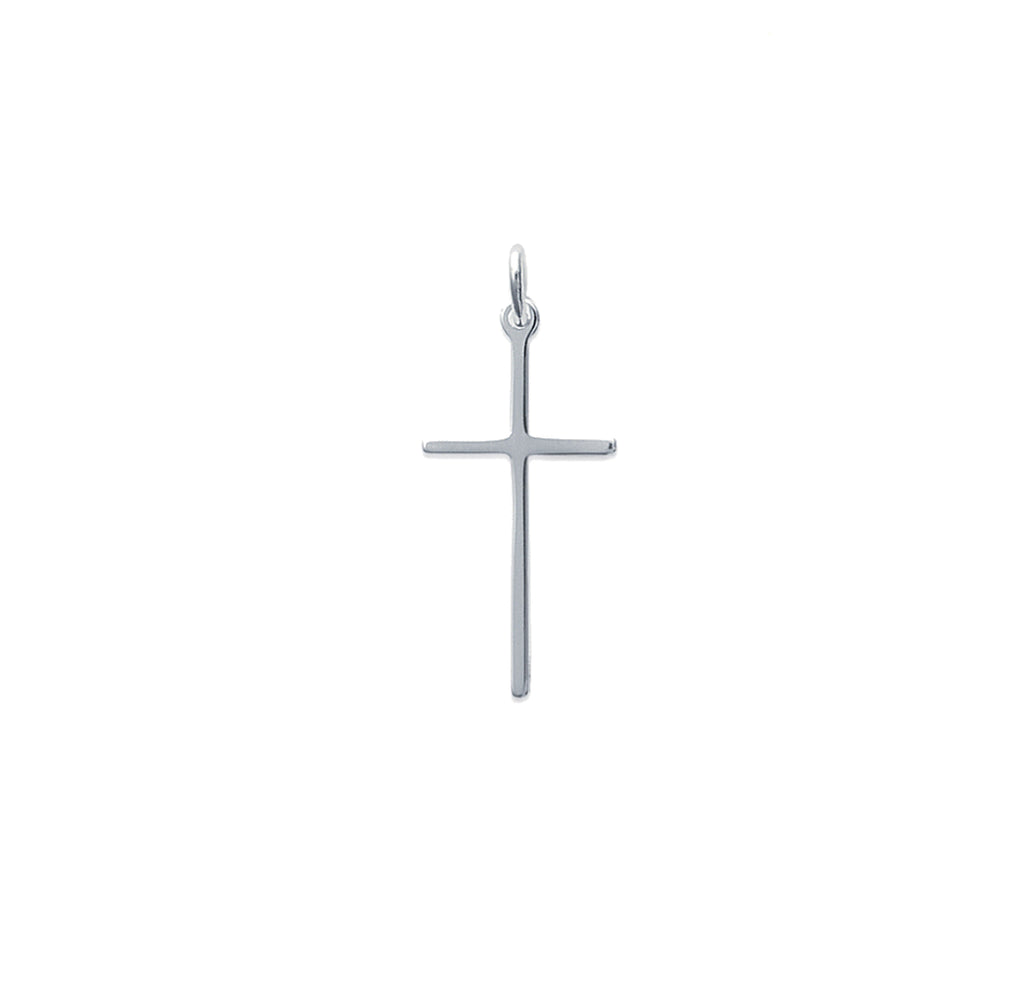Silver Thin Cross