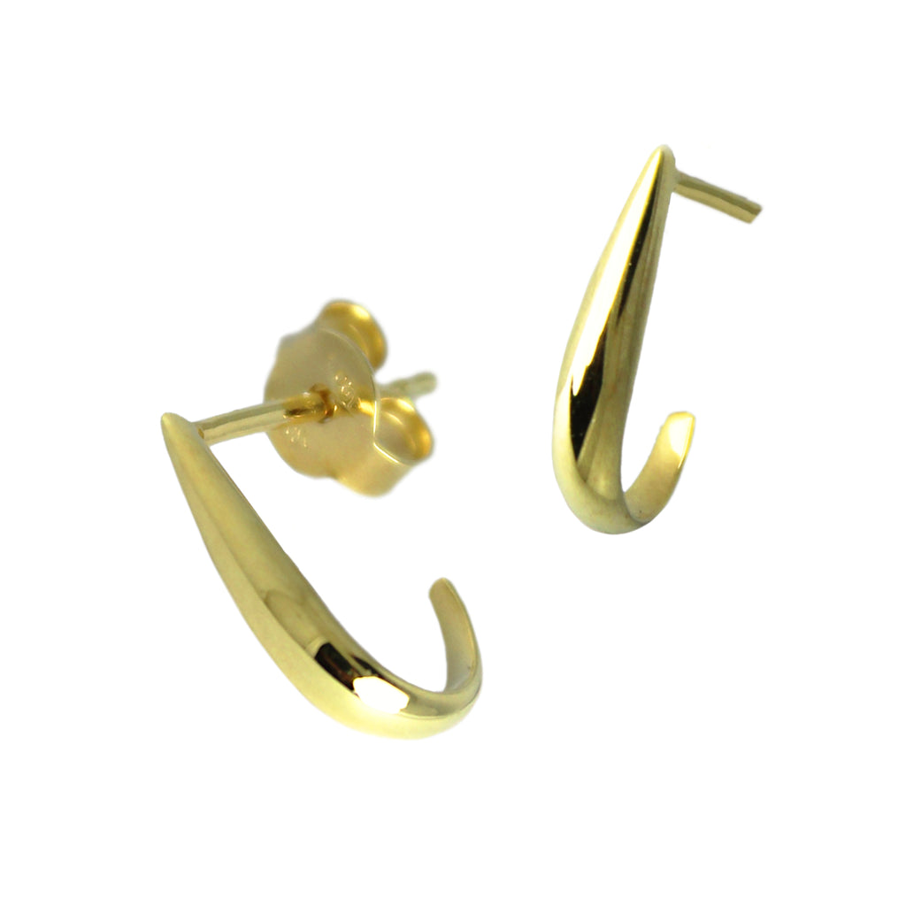 Sleek Gold Earrings