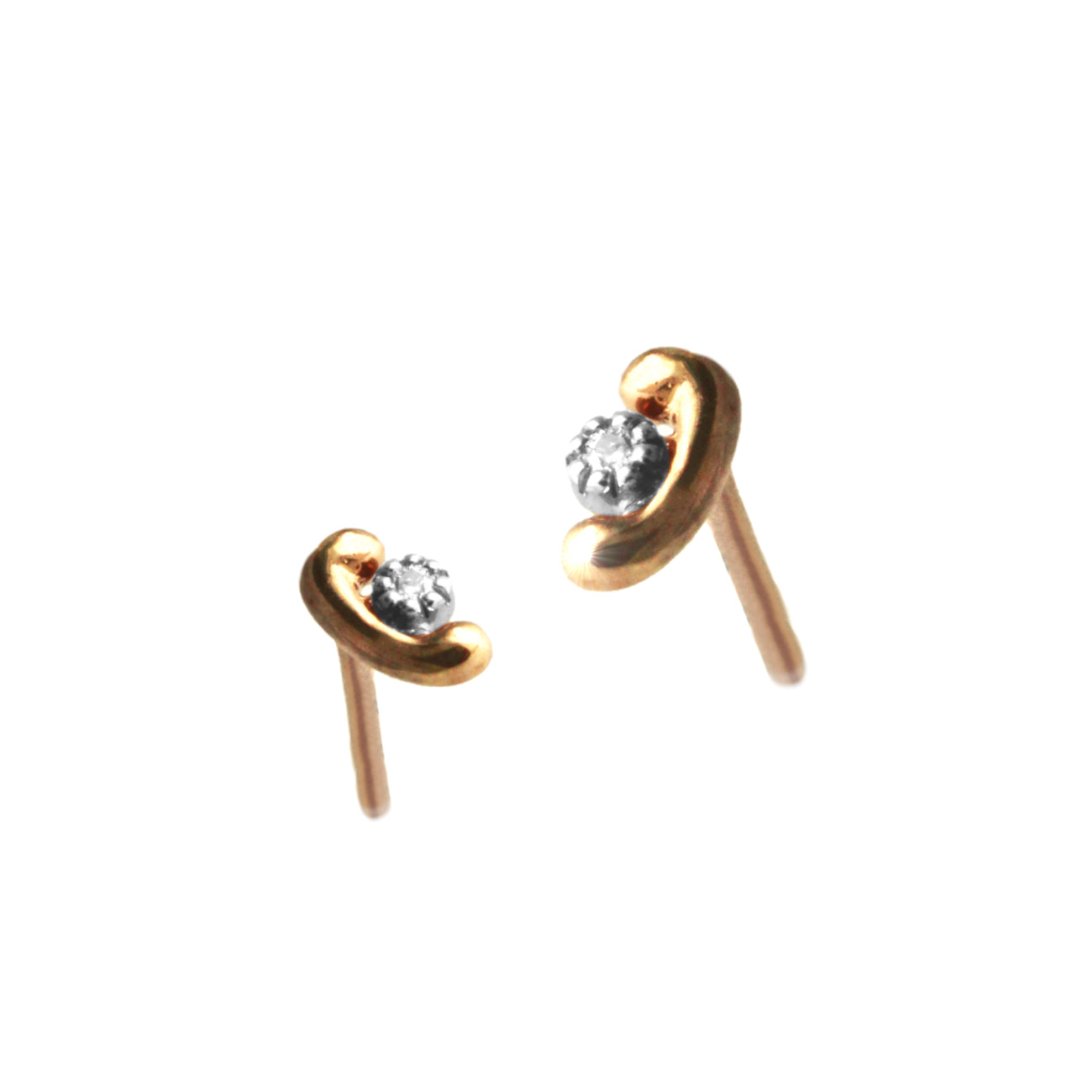 Sophisticated Rose Gold Earrings