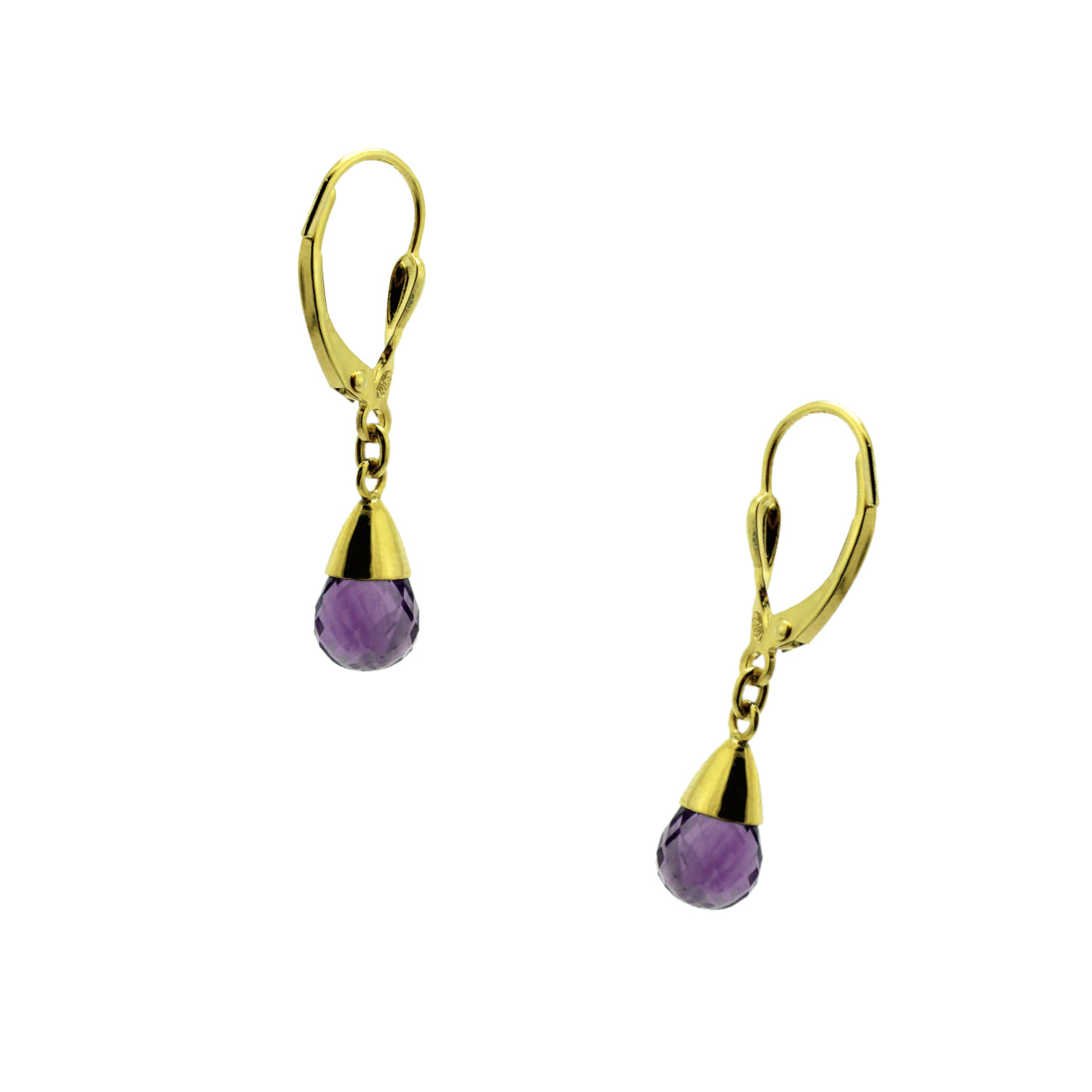 Briollet Amethyst Earrings
