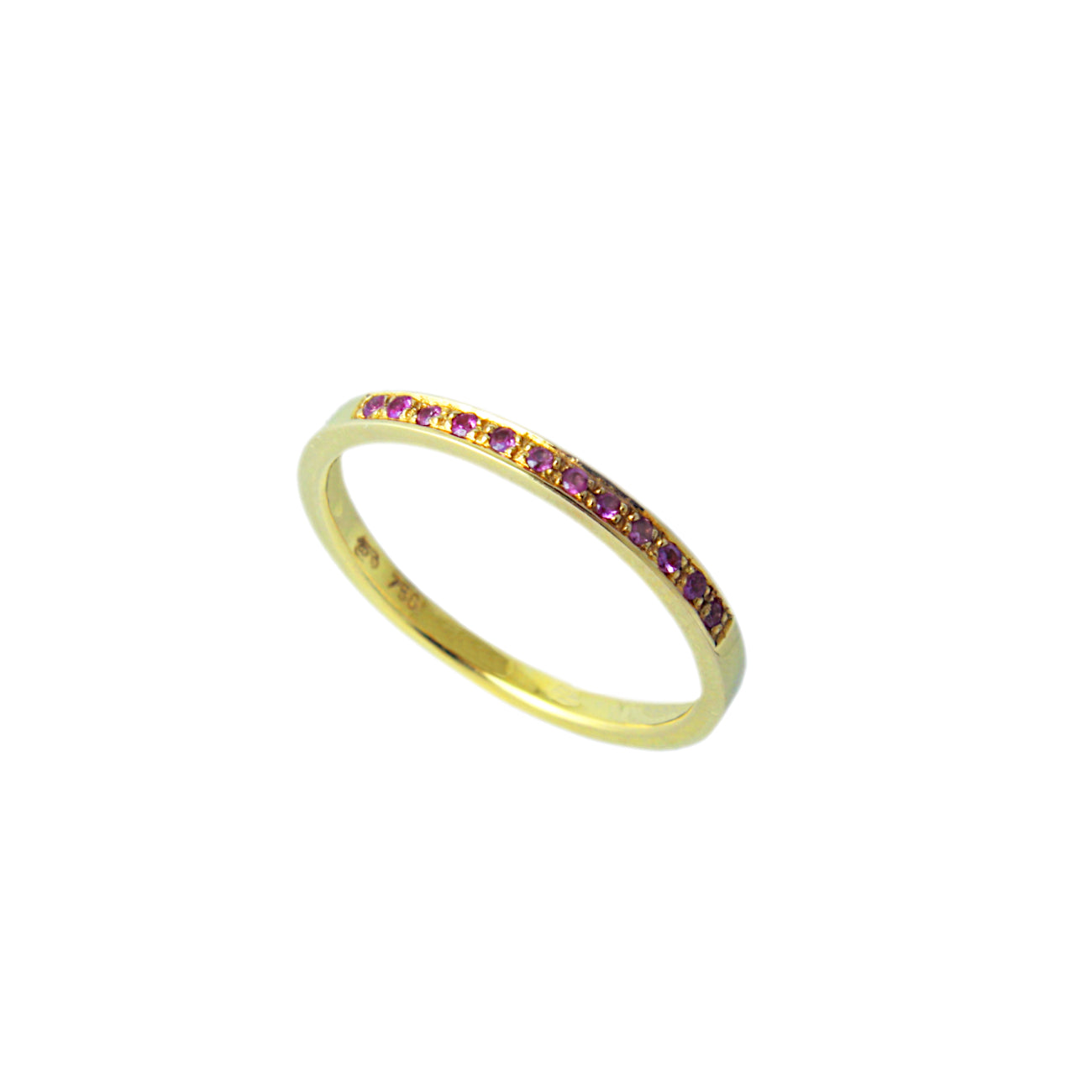 Pink Gold Semi Eternity Ring