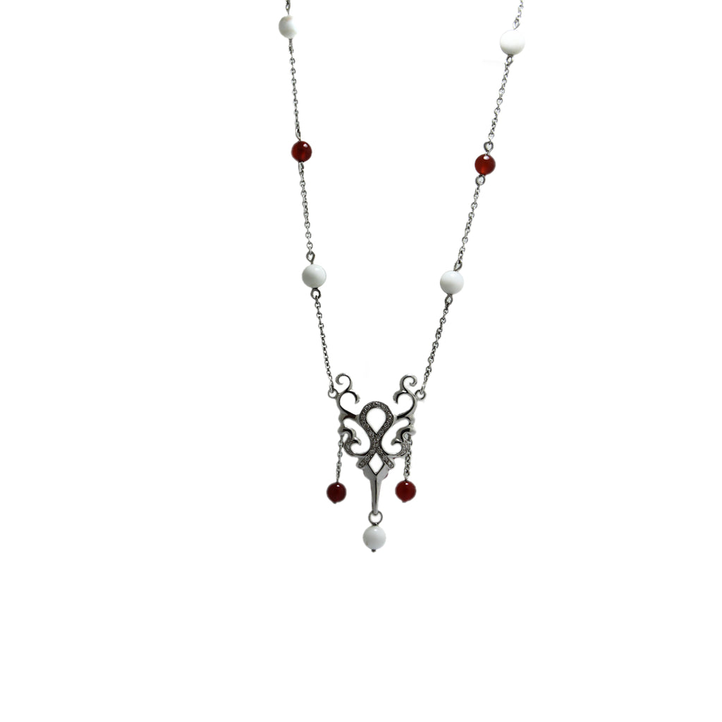 Red & White Arbo Necklace