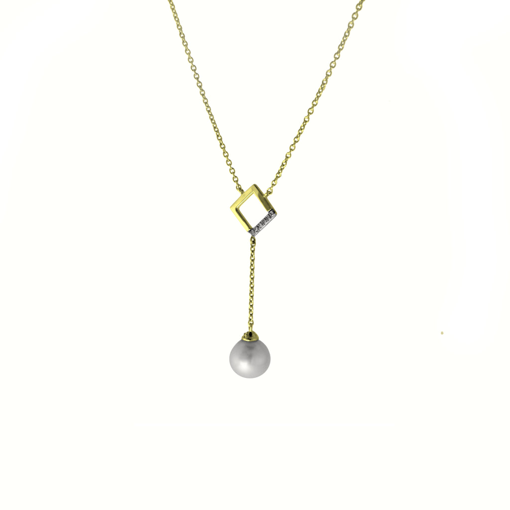 Cultured Pearl Dangling Necklace