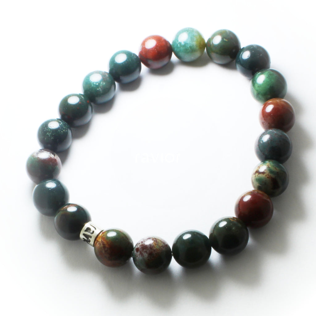 Indian bloodstone beads bracelet