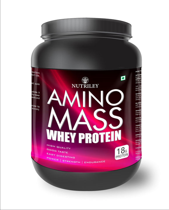 Nutriley Amino Mass - Body Weight / Muscle Gainer Whey Protein Supplement  (1 KG)