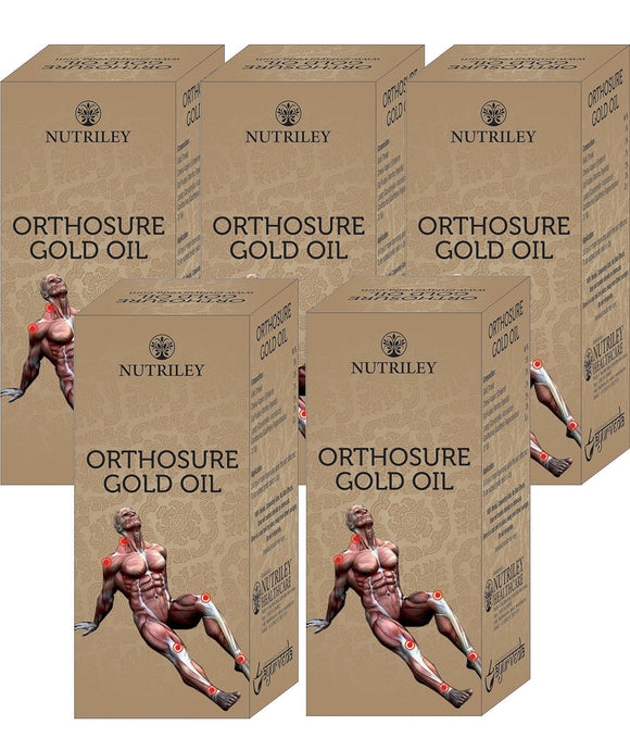 CRD Ayurveda Orthosure Gold Oil - Joint Pain / Arthritis Oil (30ML) - Pack of 5