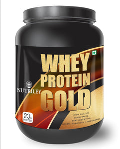Nutriley Whey Protein Gold - Body/Muscle Gainer Whey Protein Supplement (500 Gms)