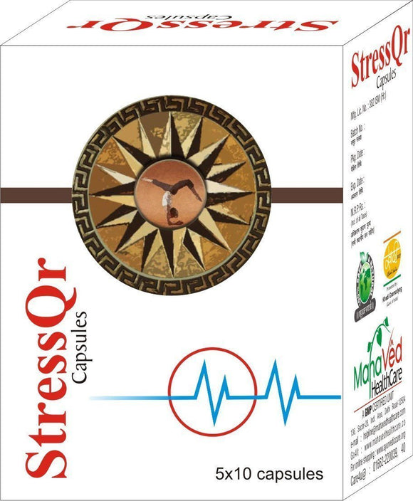 Stress Management - Stress Qr - Sleeping Problem, Stress, Anxiety, Hight Blood Pressure, Depression Capsules