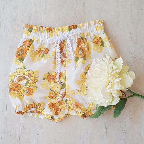 Sunshine floral Bloomers  12-18 months  SALE!!!