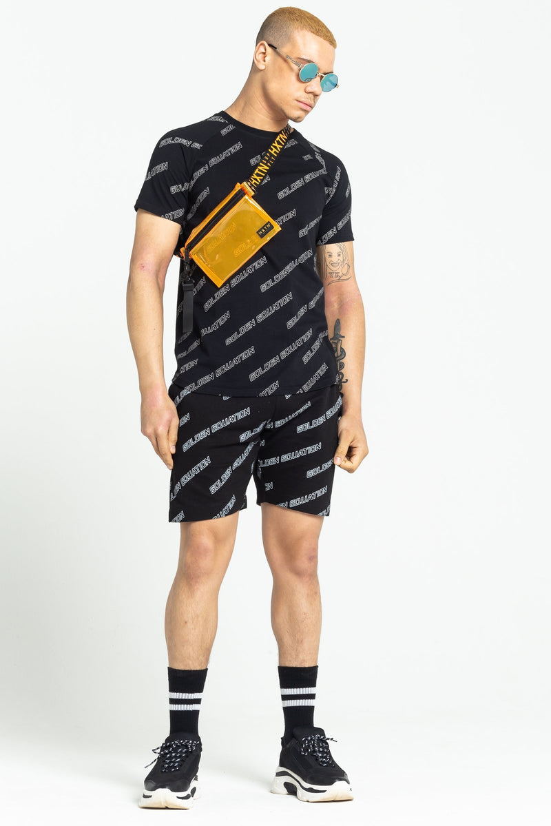 MENS BROOKLYN LOGO PRINT T-SHIRT - BLACK from Golden Equation