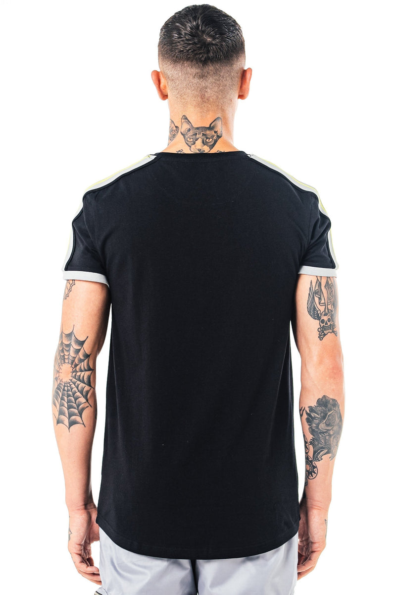 Golden Equation Yopal Taped Men's T-Shirt - Black from Golden Equation