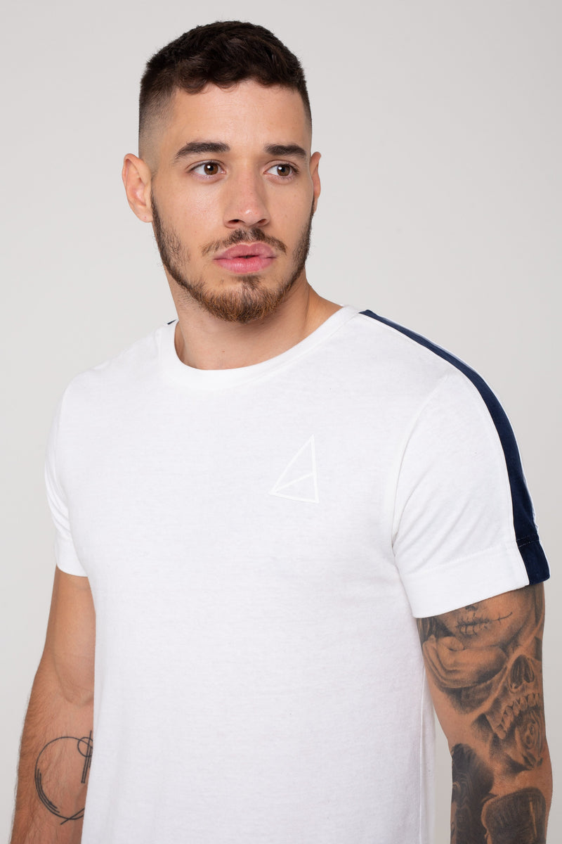 Golden Equation Harvey Edge Piped Detailed Men's T-Shirt - White from Golden Equation