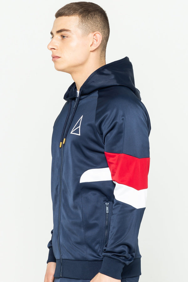 Mens Mens Albany Funnel Neck Jacket - Navy (Hoodies) - Golden Equation