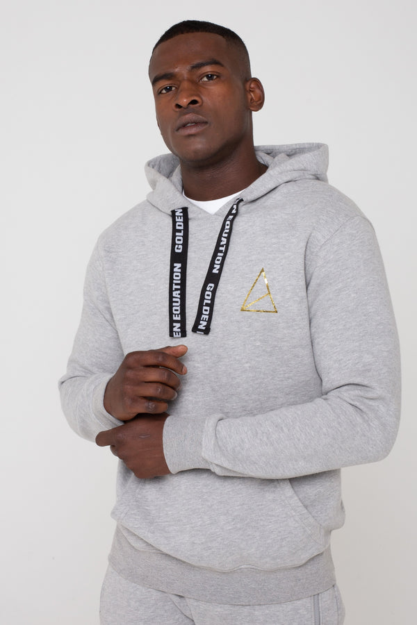 Mens Mens Ascend Fleeceback Hoodie - Grey (Hoodies) - Golden Equation