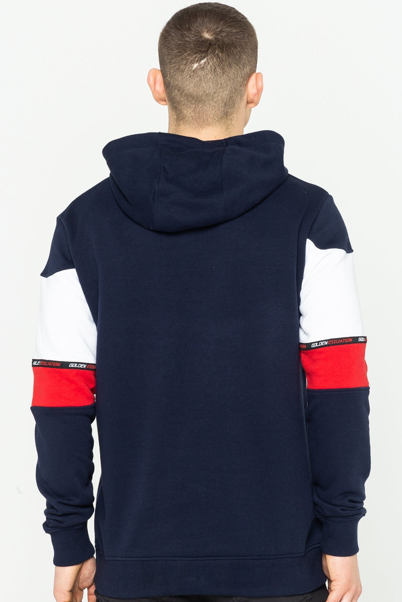 Golden Equation Barclay Striped Men's Hoodie - Navy from Golden Equation