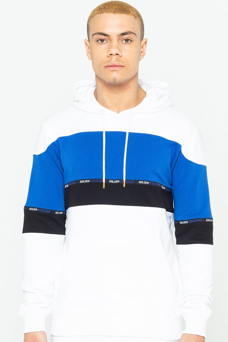 Golden Equation Barclay Striped Men's Hoodie - White from Golden Equation