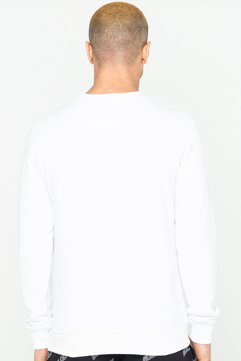 Golden Equation Beach Logo Print Men's Sweatshirt - White from Golden Equation