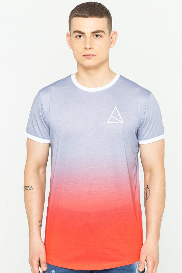 Golden Equation Beak Gradient Print Men's T-Shirt - Grey from Golden Equation